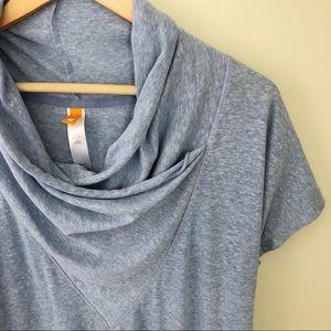 Lucy Blue Scoop Neck Short Sleeve Top